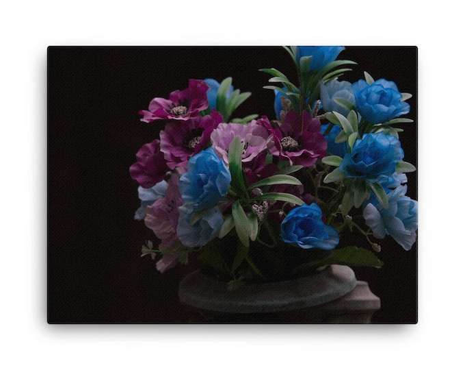 Cemetery Flowers Canvas Print- 24x36
