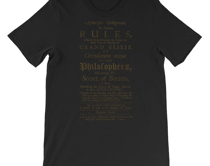 Philosopher's Stone Unisex Tee - Alchemy - Occult