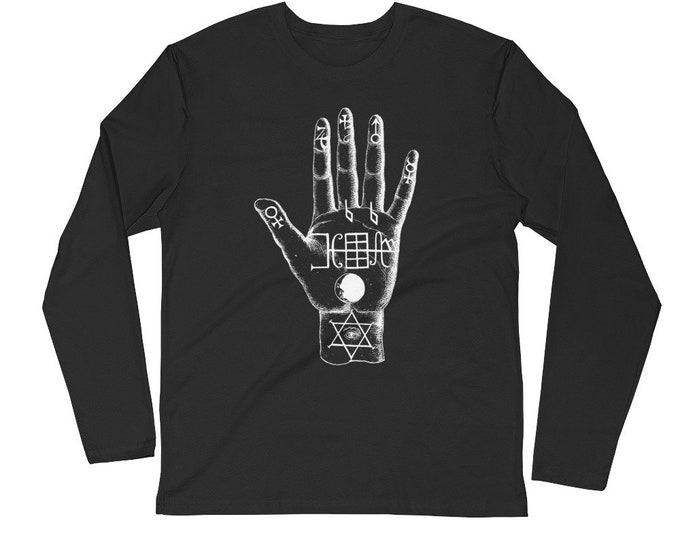 Palmistry Longsleeve Fitted Crew