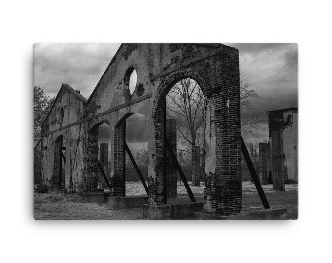 Brick Factory Ruins Canvas Print- Multiple Sizes