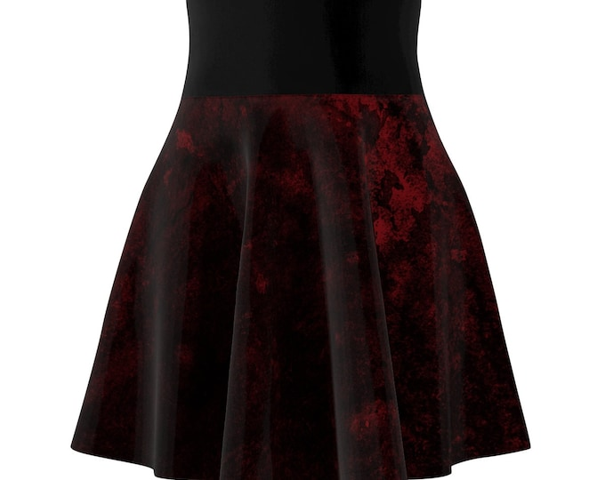Red Splatter Skater Skirt