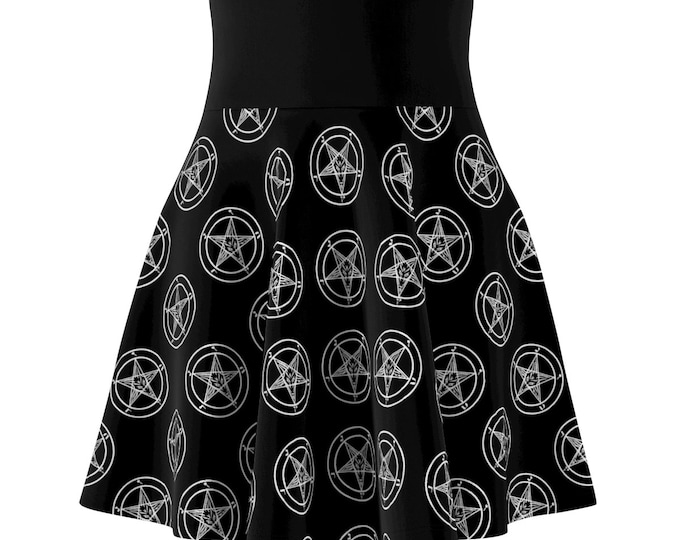 Black Pentagram Skater Skirt