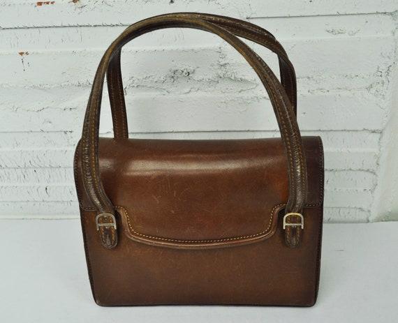 Vintage Gucci Leather Purse 1960 s Designer Bag  87e4e763131e