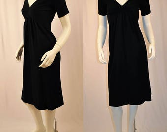 1970s Rudi Gernreich Column Gown Black/Small