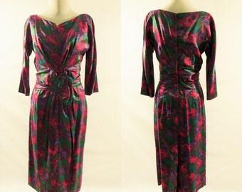 Carol Craig 1950s Vintage Long Sleeve Dress