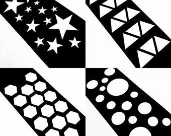 15 Section Makeup Swatch Stencil (Stars, Hexagon, Triangle, Bubbles, Circles, Bundle etc)