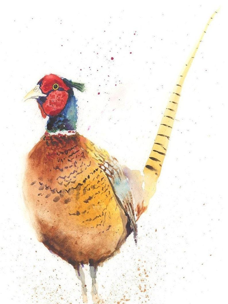 PHEASANT print watercolour