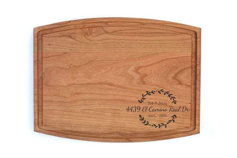 Housewarming Gift - Closing Gift - Client Gift - Custom Cutting Board -  Walnut Cutting Board - Handmade Cutting Board - Design 1