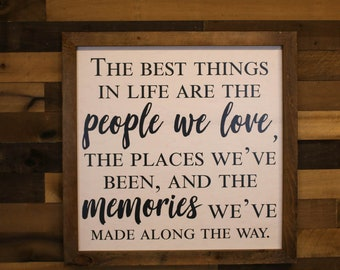 Extra Large Wall Art, Wood Wall Art, Living Room Wall Sign, The Best Things In Life, Gift for Her, Modern Farmhouse, Farmhouse Fresh, Gift