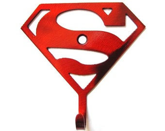 3784f09d26 METAL SUPERMAN Wall Hook Justice League Super Hero Key Hook for pj s  backpack umbrella baseball glove Metal Wall Hooks justice league gift