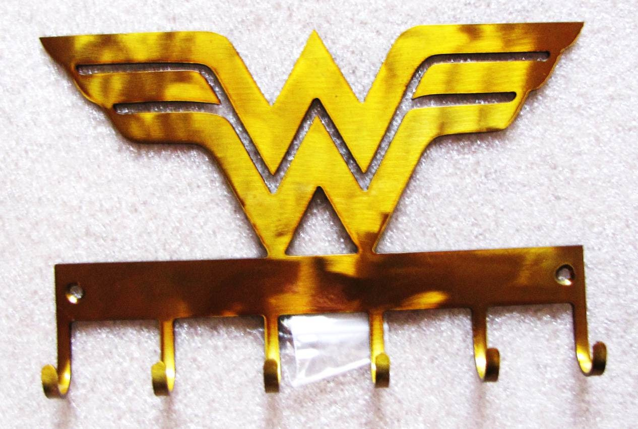 Metal Wonder Woman Wall Hooks Logo Hooks Superhero wall hooks   Etsy