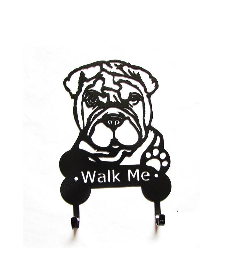 Metal Shar Pei Dog Leash Harness Hooks Dog Leash Holder Shar