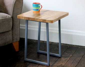 Items similar to Small solid oak side table | Side Table ...