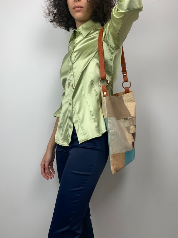 Italian Patchwork Leather Tote