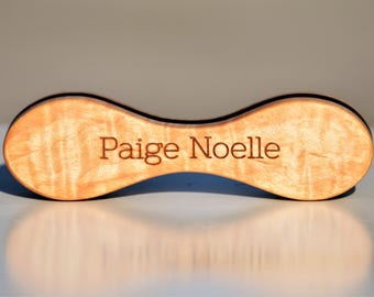 Personalized Wooden Baby Rattle - Wooden toy for baby.
