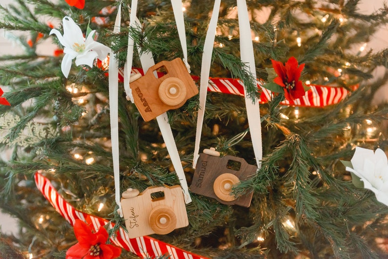 Personalized Children/'s Wooden hardwood toy camera Maple Photographer Gift