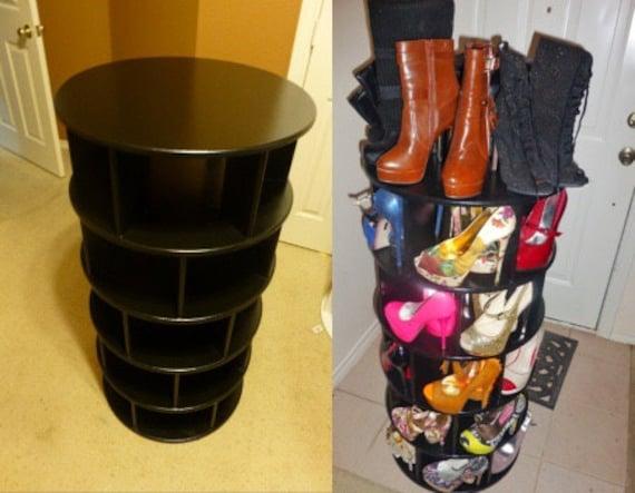 Spinning Shoe Rack Etsy
