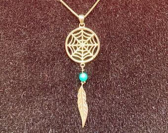 Vintage Sterling Silver Dream Catcher with Matching Earrings