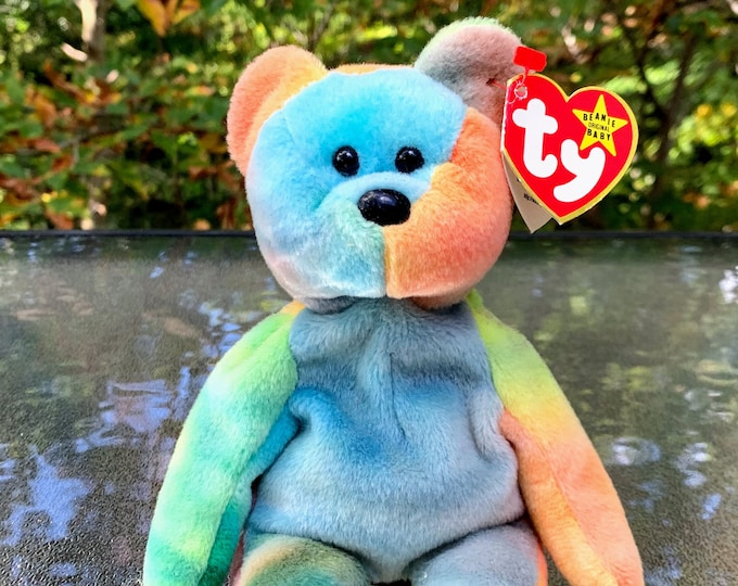 Featured listing image: 1996 TY Beanie Baby Tie-Dye Garcia the Teddy Bear