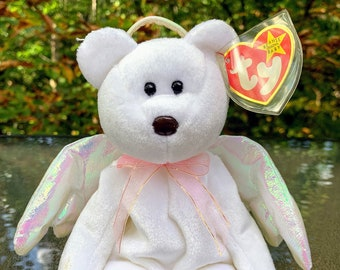 1998 TY Beanie Baby Halo the Angel Bear