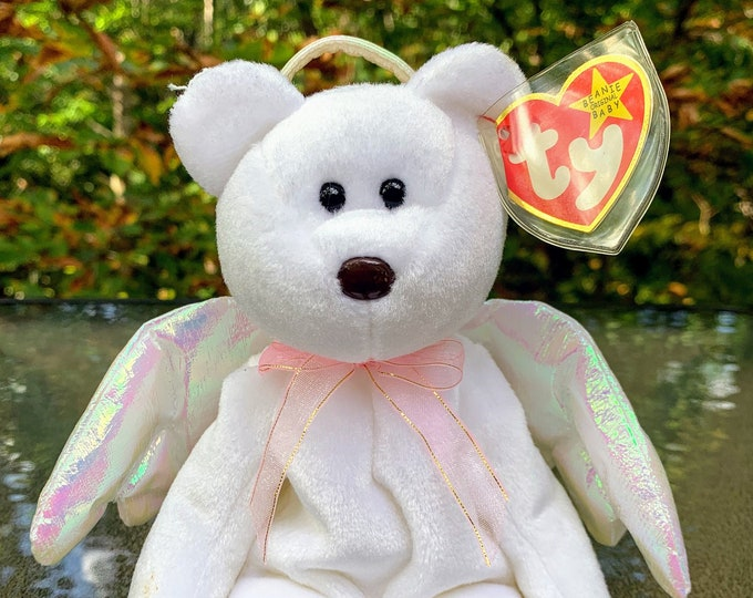 Featured listing image: 1998 TY Beanie Baby Halo the Angel Bear