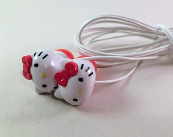 Hello Kitty Pink and White iPhone Ear Buds