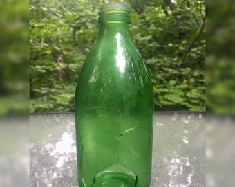 Vintage Green Glass Bottle - Broken Piece