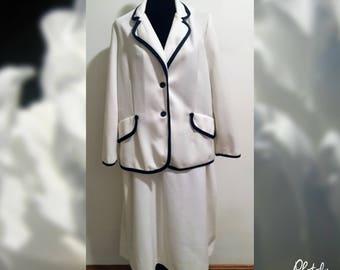 1970s Montgomery Ward Pant Suit/Vintage Women's Suit/Skirt Suit Set