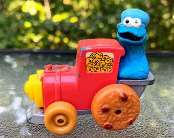 1981 Playskool Sesame Street Cookie Monster Express Diecast Car