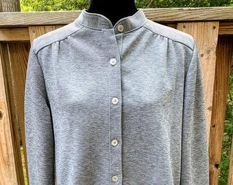 1970s Women's Long Sleeve Gray Pant Suit