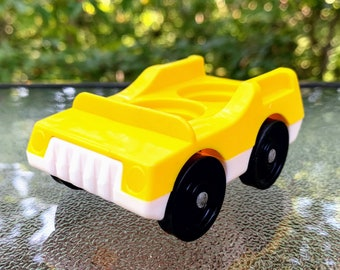 Vintage Fisher Price Two Seater Little People Car