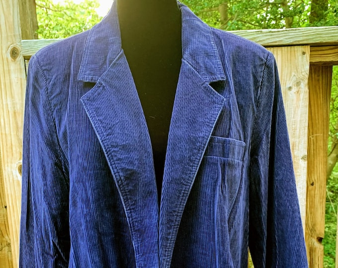 Featured listing image: 1970s Men's Blue Corduroy Jacket
