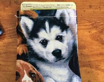 Handmade Puppy Pattern Pill Pouch, Sleeve