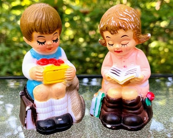 1980s School Children Salt and Pepper Shakers