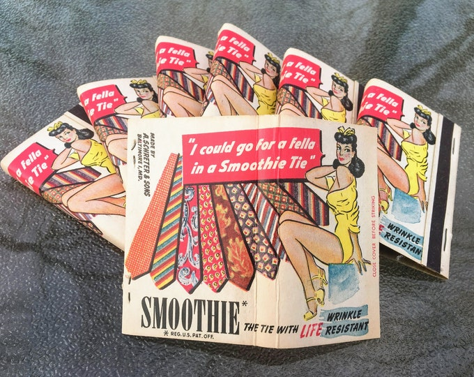 Featured listing image: Vintage Smoothie Ties Matchbook Set