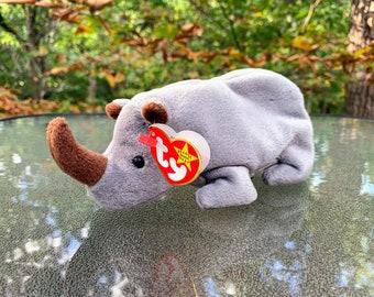 1996 TY Beanie Baby Spike the Rhinoceros