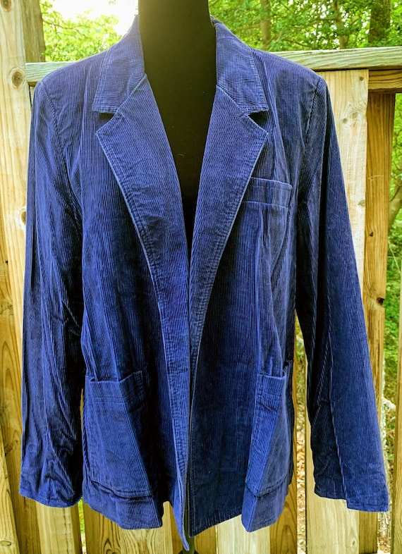 1970s Men's Extra Editions Blue Corduroy Jacket