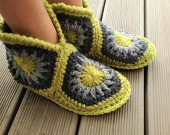 62d056d28997b Granny slippers   Etsy
