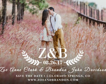 Custom SAVE THE DATE Invitation Announcement with Photo!  Digital File, Print at Home.