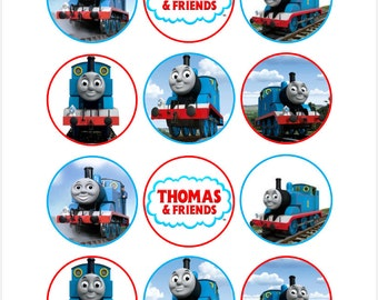 Edible Thomas and Friends Cupcake Cookie Toppers