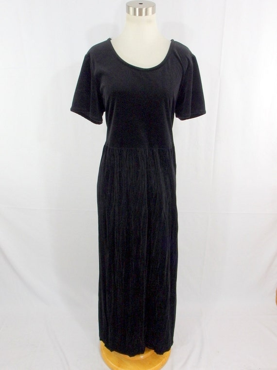 Vintage Gotcha Covered Black Crushed Velvet Velour Dress 12 Etsy