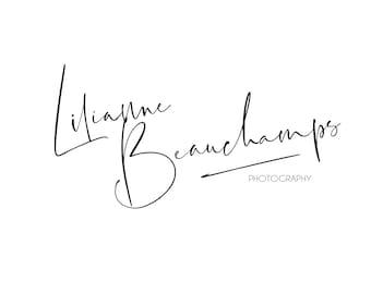 Makeup artist logo hand written Logo & matching Watermark