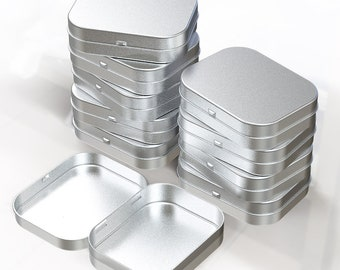 Set of 10 Blank silver mint tin box Metal two size available perfect for mint to be wedding favors baby shawer gift package