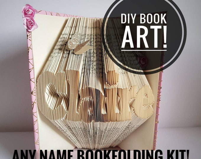 Paper Folding DIY Gift Set Christmas Gift Create Your Own Paper Art Gift for Crafty Person,Book DIY Bookfolding Kit Origami Craft Kit