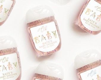 Baby Shower Personalized Hand Sanitizer Labels