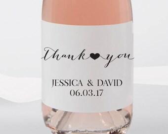 Mini Wine Labels Wedding Favors-Thank you