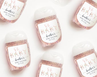 Personalized Baby Shower Girl or Boy Hand Sanitizer Labels Bath and Body Works