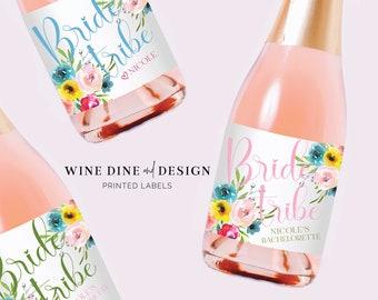 Bridesmaid Mini Champagne Labels, Bridesmaid Proposal Gift, Bachelorette Party Favor, Bridesmaid Gift
