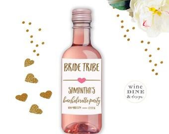 Mini Wine Labels Bachelorette Party Favor Hen Party