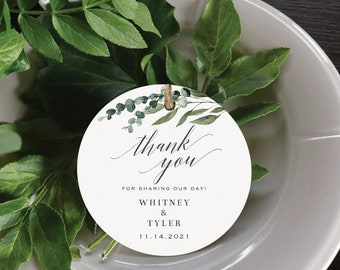 Personalized Printed High Quality Wedding Gift Tags